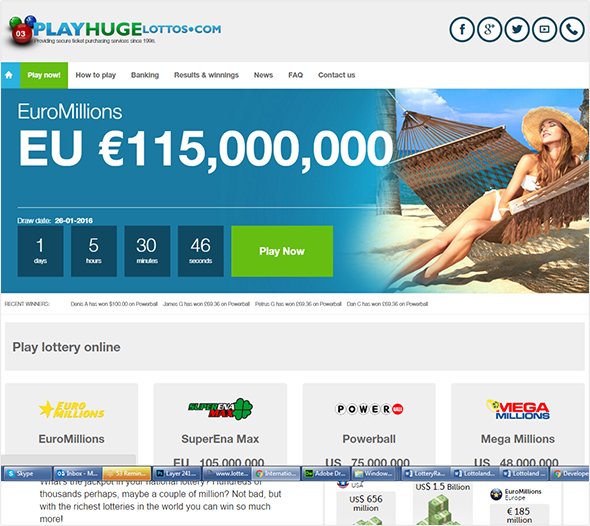Play Huge Lottos